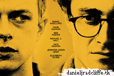 First Kill Your Darlings poster featuring Daniel Radcliffe and Dane DeHaan