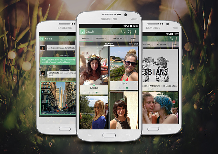 Dattch the online dating App for lesbians, bisexuals and bi-curious now available for Android smart phones and tablets