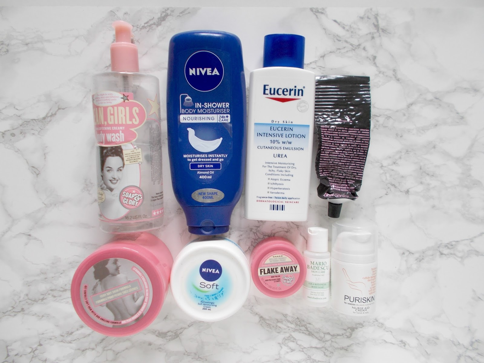 skincare empties reviews soap and glory nivea