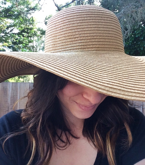 Whitney Wears sun hat