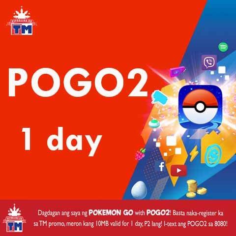 TM (Touch Mobile) POGO2 1 day Pokemon Go Promo for only 2 Pesos
