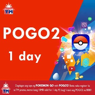 TM (Touch Mobile) POGO2 1 day Pokemon Go Promo for only 2 Pesos