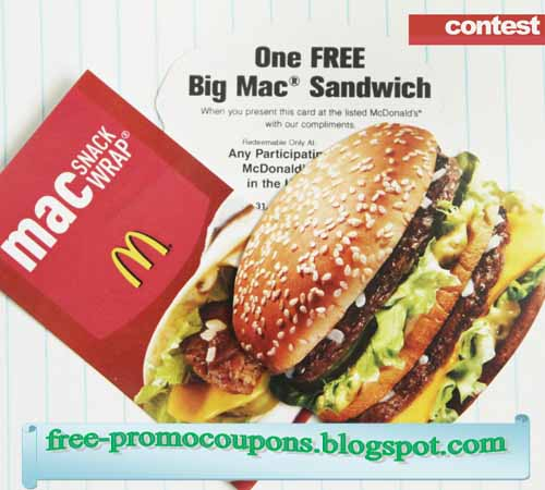 How to use a Mcdonalds coupon McDonalds has the fast food you are looking for with a great selection. Besides burgers, all types of frozen treats have been added to the menu. Find coupons online that will save you money on your next order. Find an online coupon for .
