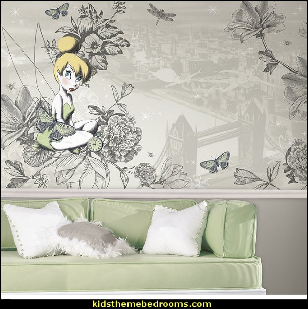 Vintage Tinker Bell X-Large Chair Rail Prepasted Mural
