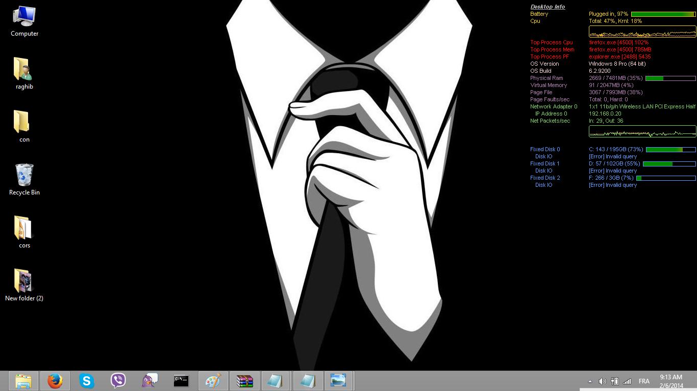 أظهر معلومات حاسوبك على سطح المكتب مع Desktop Info