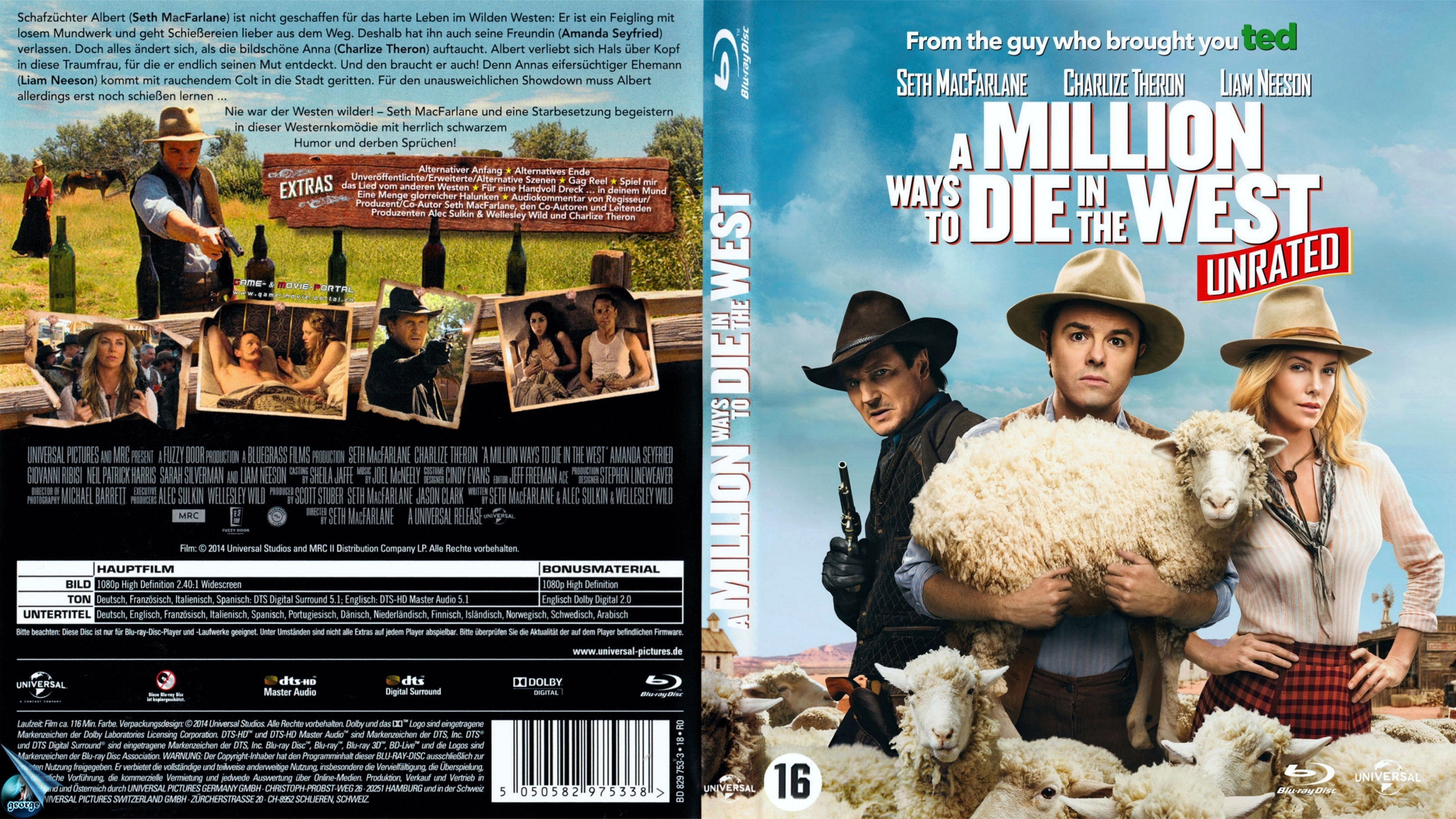 A Million Ways To Die In The West Bluray Cover Cover Addict Free Dvd Bluray Covers And Movie Posters