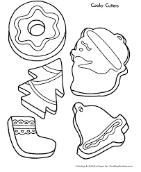 Christmas Cookie Coloring Page 4