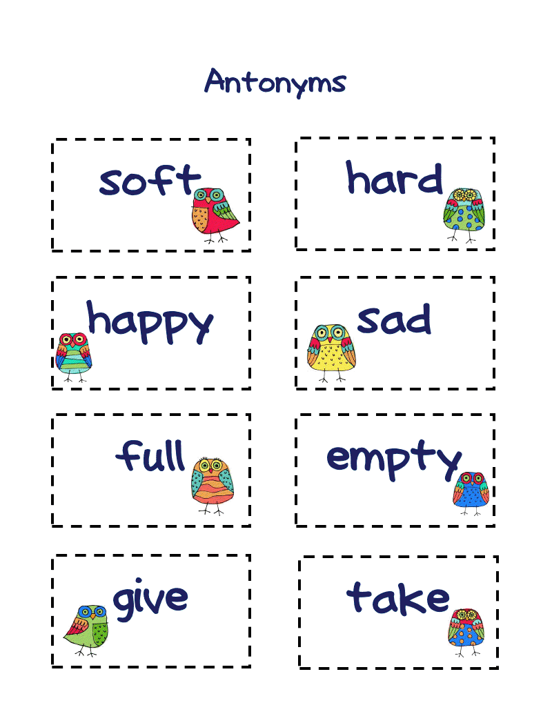 Buggy For Second Grade Antonyms Freebie