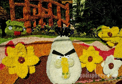 Angry Birds Inspired Flower Float