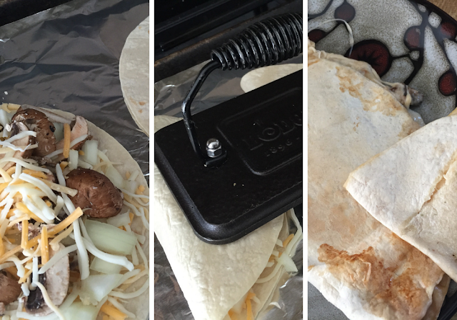 Easy cheesy lunch with La Tortilla Factory tortillas