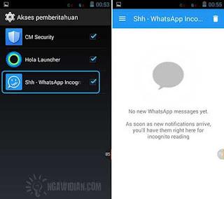 Cara Read Pesan WhatsApp Android Tanpa Diketahui