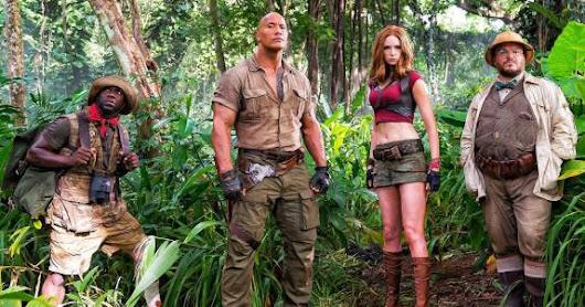 The film 'Jumanji' leads box office pack over US holiday weekend