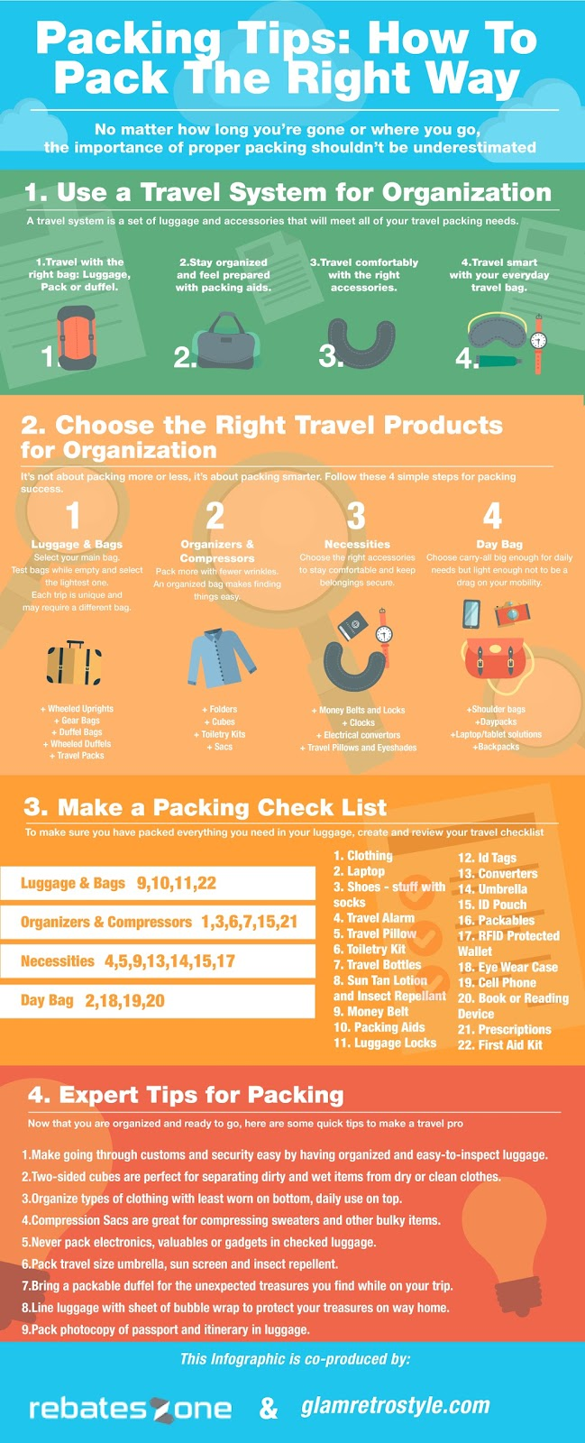 Packing Tips and Tricks for Travel infographic