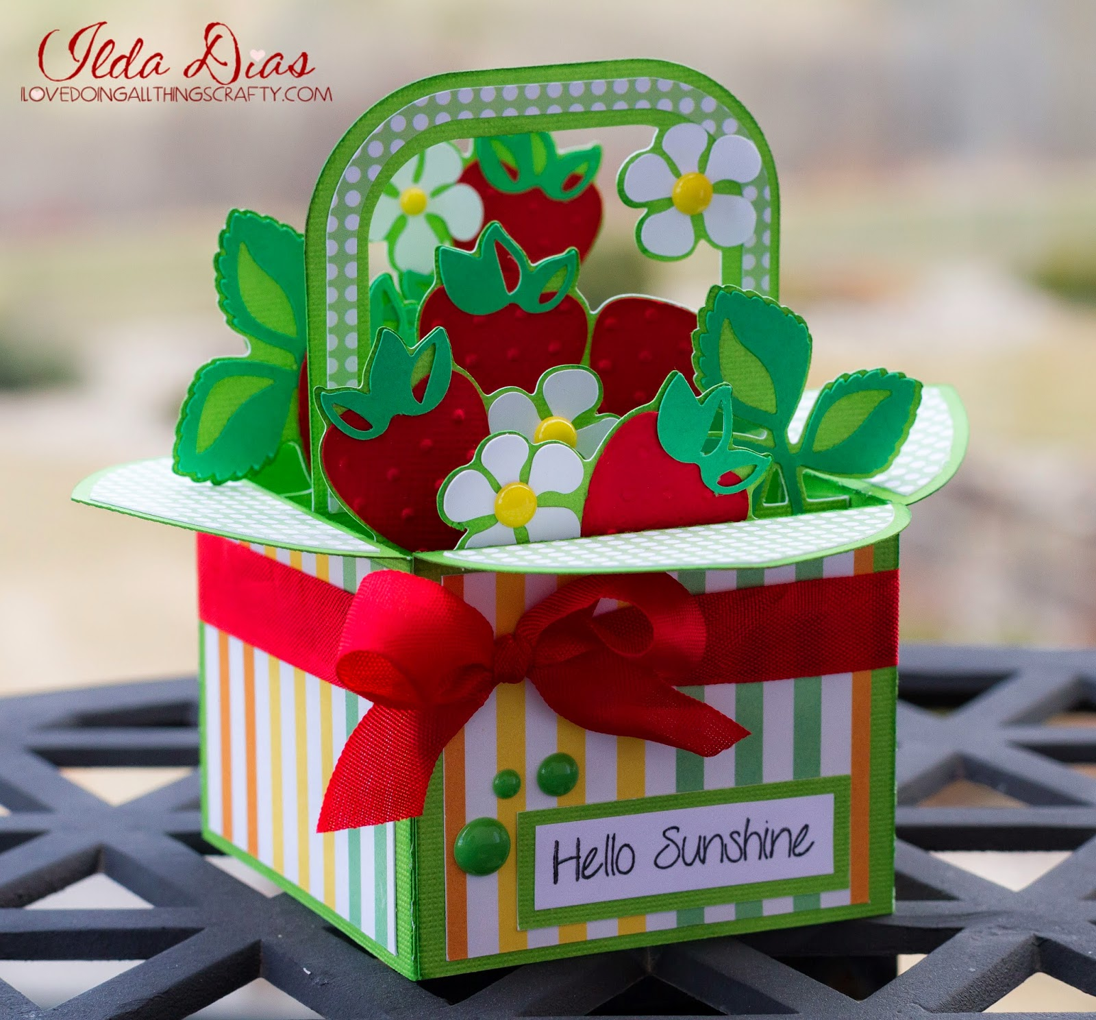 Strawberry Basket Box Card | SVG Cuts Files