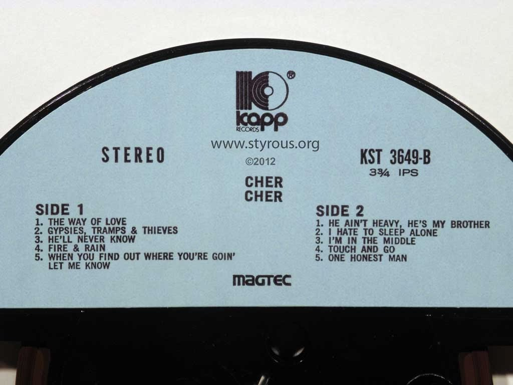 The Styrous Viewfinder 101 Reel To Reel Tapes 50 Cher Gypsys