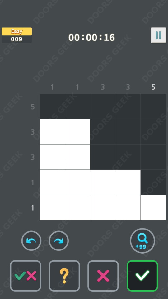 Nonogram King Easy Level 9 Solution, Cheats, Walkthrough for Android, iPhone, iPad and iPod