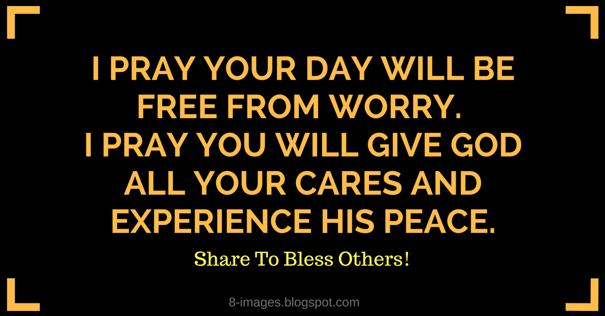 Prayer For Freedom From Worry