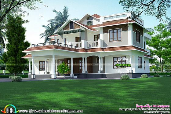 4354 sq-ft 5 bedroom mixed roof home