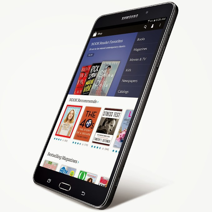 Samsung Galaxy Tab 4 Nook tablets announced