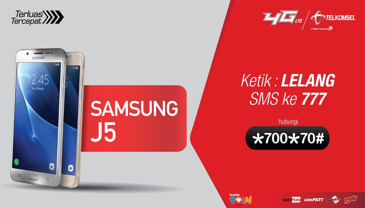 Telkomsel - Promo Lelang POIN & Dapatkan Smartphone Samsung J5 (