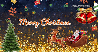 Santa claus coming merry Christmas gift free 4 images