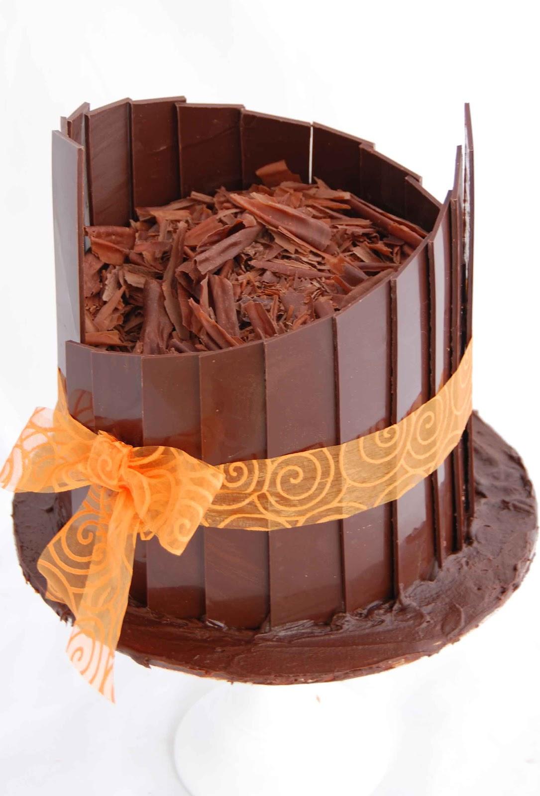 Decorating Cake With Chocolate Shards