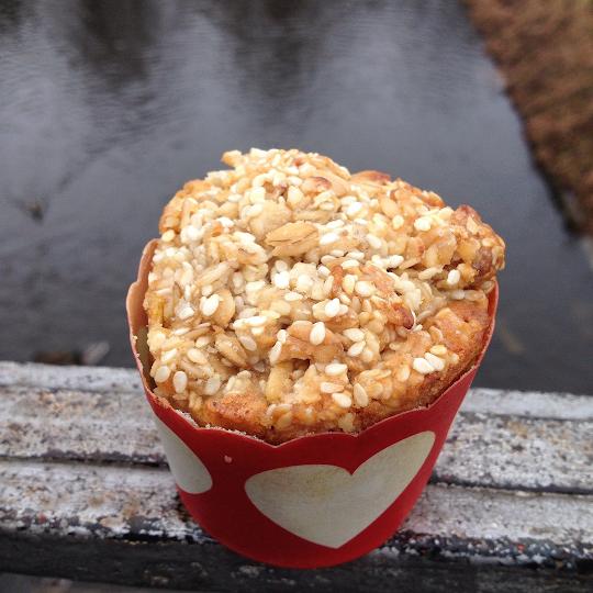 Muffinki marchewkowo-bakaliowe z kruszonką