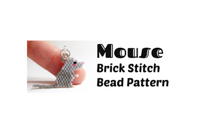 Click here for more info about this Brick Stitch Mouse Pattern.