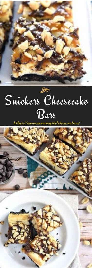 Snickers Cheesecake Bars #dessert #cheesecake