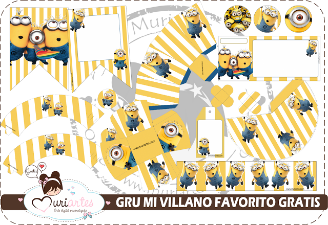 Funny Minions Free Printable Kit.