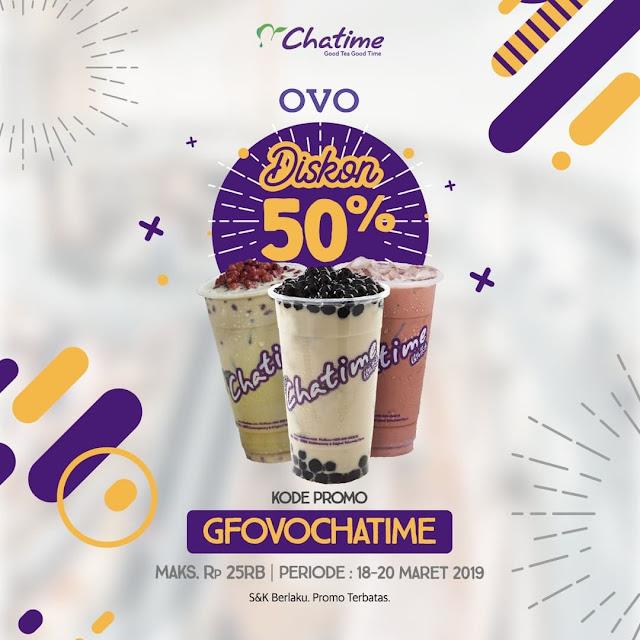 #Chatime - #Promo Voucher Diskon 50% Pakai GrabFood & OVO (s.d 20 Mar 2019)