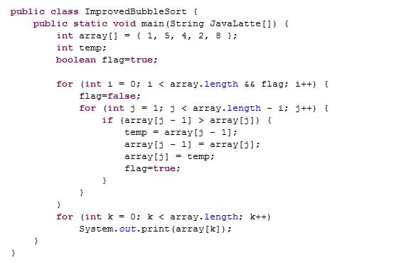 Java Program to Sort the Array in an Ascending Order