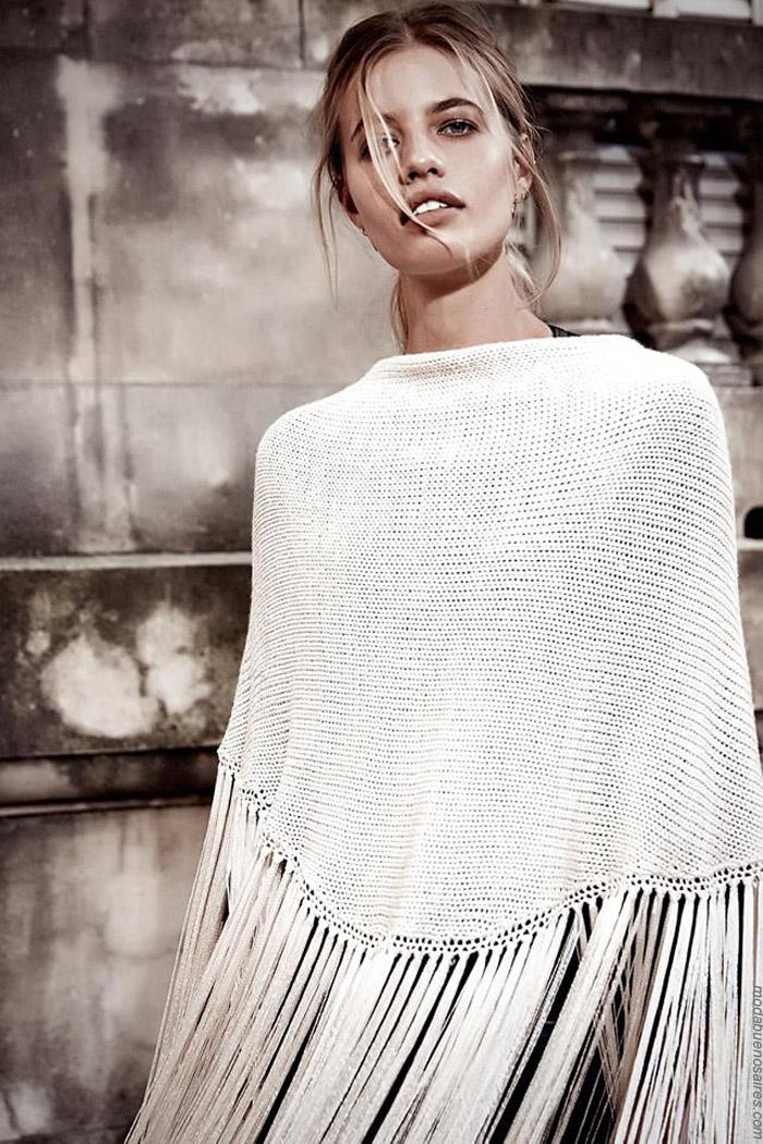 Capas moda tejidos invierno 2019. Moda mujer tejidos invierno 2019.