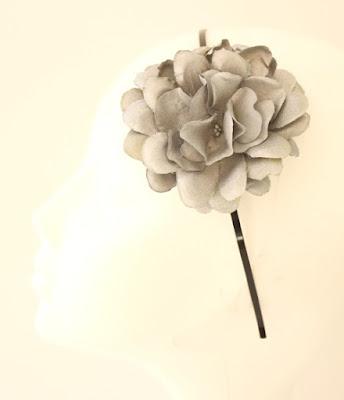 OI 1617 - Coleccion Plata Negro -  Diadema Tocado 1