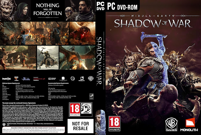 Capa Middle Earth Shadow Of War PC