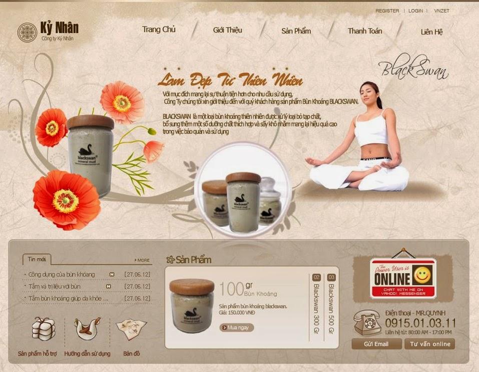 thiết kế web bán hàng dược phẩm đẹp