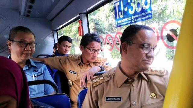 Image result for sandiaga transjakarta