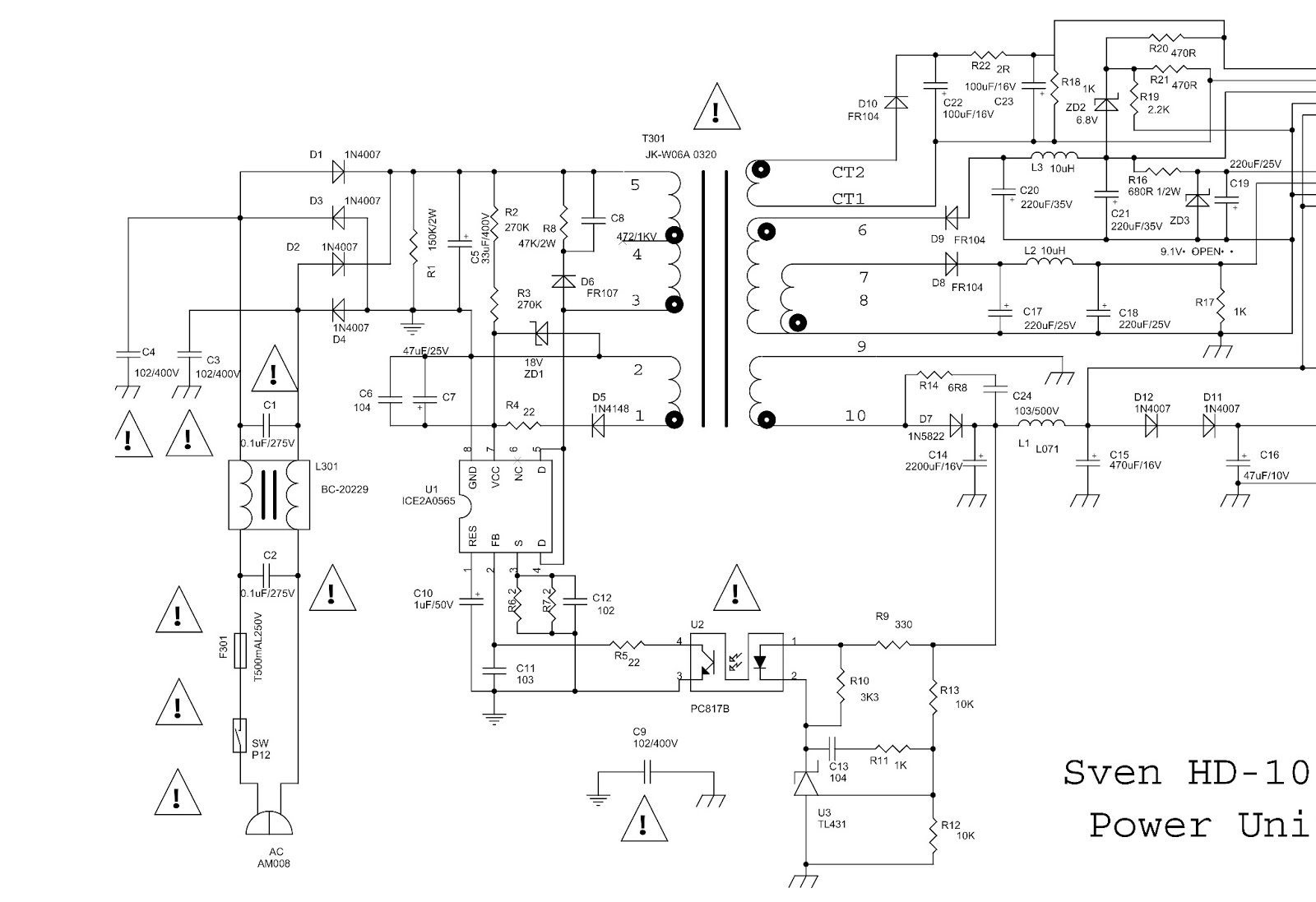 whelen power supply wiring diagram sven - hd1030 _ sanyo h860 - dvd player - power supply ... sanyo power supply wiring diagram #15