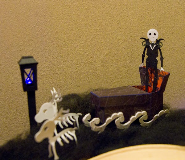 Jack Skellington with coffin sleigh - NBC