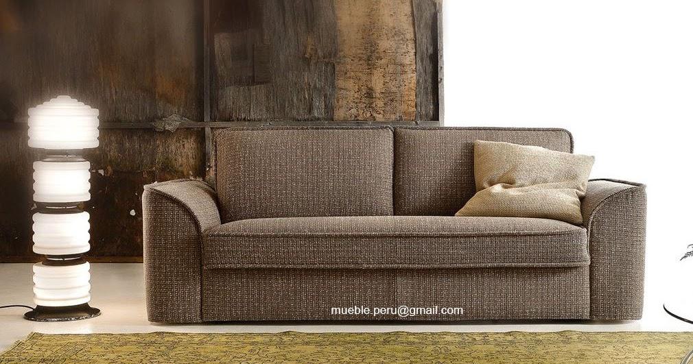 Mueble peru sofas cama tapizados en cuero for Mueble 3 camas