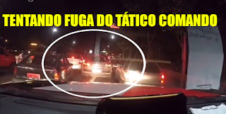 [VÍDEO] COM CARRO FURTADO LADRÃO FILMA PM'S E CAI NA MÃO DO TÁTICO