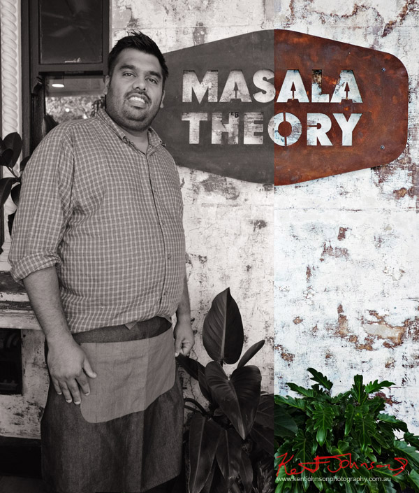 Manager Vittal Iyer at Masala Theory, Surry Hills. Photographed by Kent Johnson for Street Fashion Sydney.