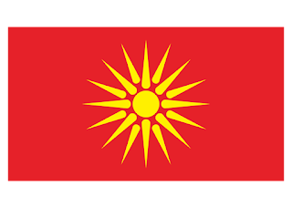 Macedonian Flag Logo Vector
