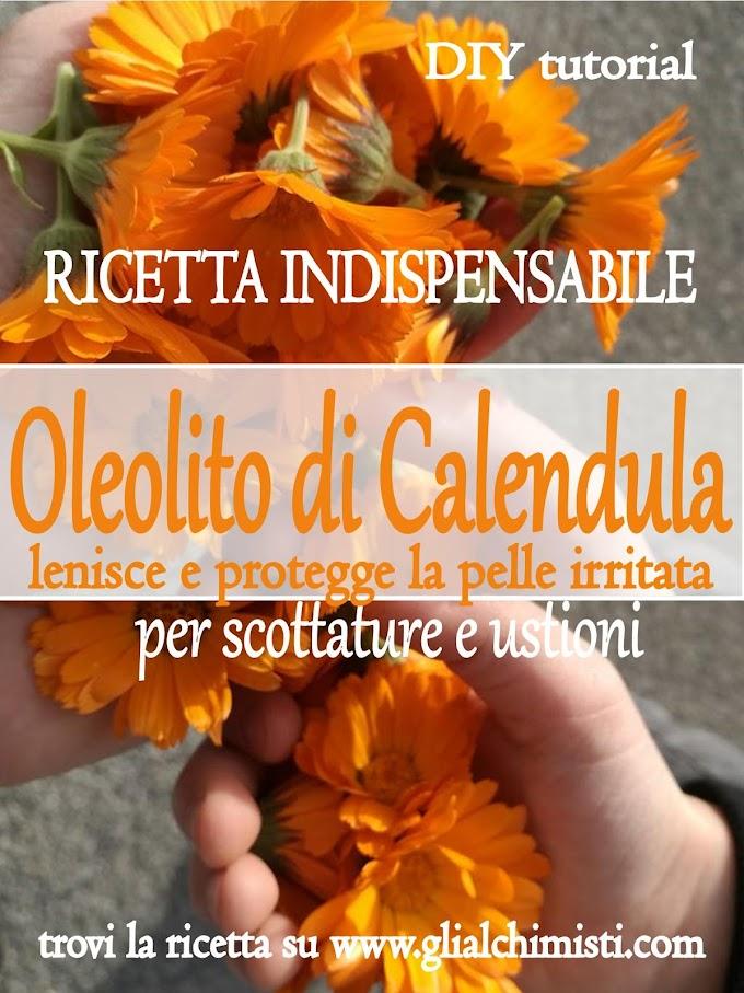 OLEOLITO DI CALENDULA - RICETTA SEMPLICISSIMA!