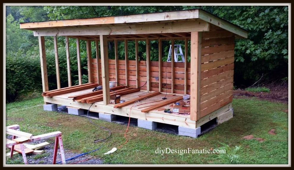 Mountain Cottage, building a wood shed, build a wood shed, diy, cottage, diyDesignFanatic.com