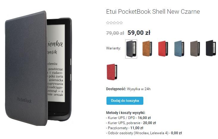 Etui do czytników PocketBook Basic Lux 2, PocketBook Touch Lux 4 i PocketBook Touch HD 3