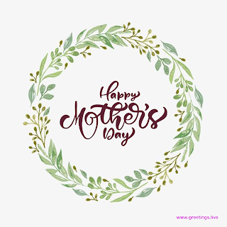 mother's day images with Hand painted circler flowers frame