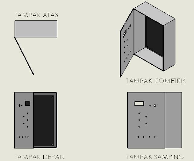 Gambar 3 19 3D Panel Kontrol (sumber : perancangan)