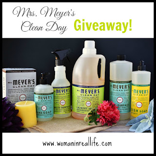 Mrs. Meyer's Clean Day products are coming to Canada. Enter to win the full line on www.womaninreallife.com