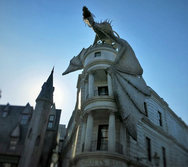 a building from Harry Potter movie at Universal Studios